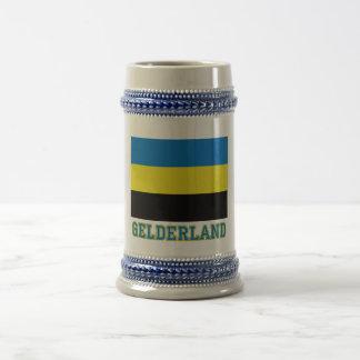Gelderland Flag with name Beer Steins