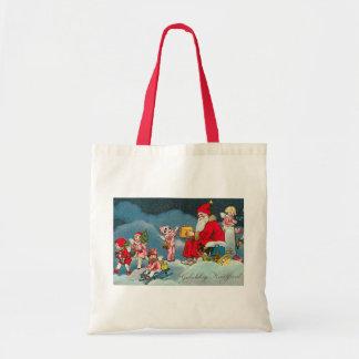 """""""Gelukkig Kerstfeest"""" Vintage Dutch Christmas Card Tote Bag"""