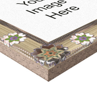 Gem and Bead Photo Template  Wrapped Canvas