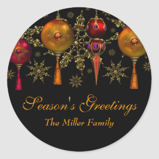 Gem Bauble Festive Season's Greetings Sticker