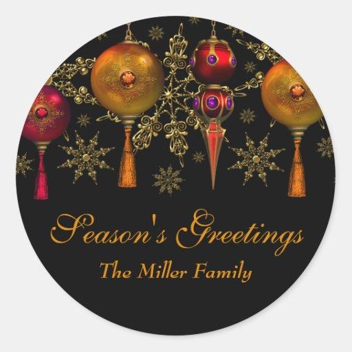 Gem Bauble Festive Season's Greetings Sticker