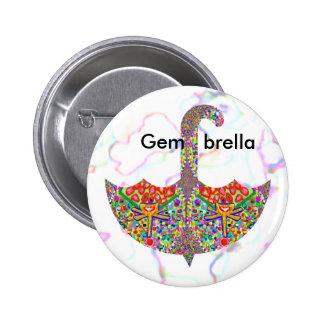 Gem - brella 2 inch round button