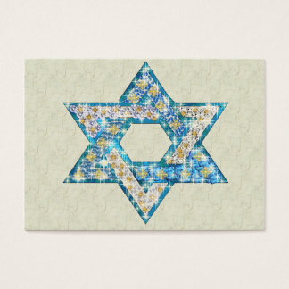 Gem decorated Star of David Business Card