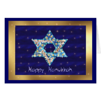 Gem decorated Star of David Card