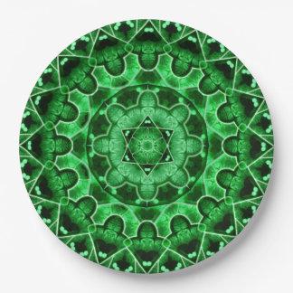 Gem Star Mandala Paper Plate