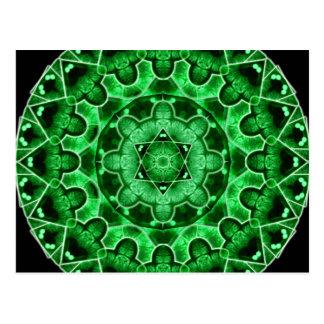 Gem Star Mandala Postcard