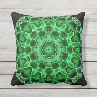 Gem Star Mandala Throw Pillow