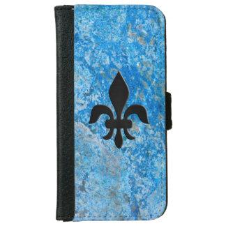 Gem Stone Pattern, Blue Granite & Black Onyx iPhone 6 Wallet Case