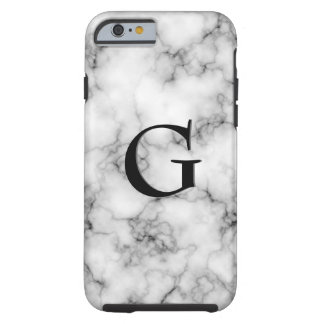 Gem Stone Pattern, Gray / Grey Marble & Black Onyx Tough iPhone 6 Case