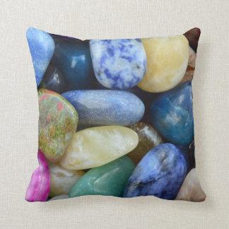 gem stones pattern texture rock nature throw pillow