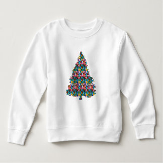 GEM studded XMAS Tree :  Merry Christmas Sweatshirt