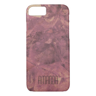 Gem texture iphone 7 case (Add your name!)