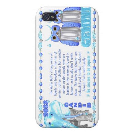 Gémeaux de taureau de l'eau de zodiaque de ValxArt Étui iPhone 4/4S