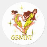 Gemini 3 (stars) round sticker