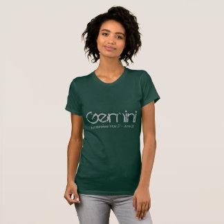 Gemini Born In May Tee-shirt In Emerald Birthstone T-Shirt