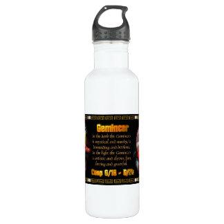 Gemini Cancer zodiac cusp by Valxart 710 Ml Water Bottle