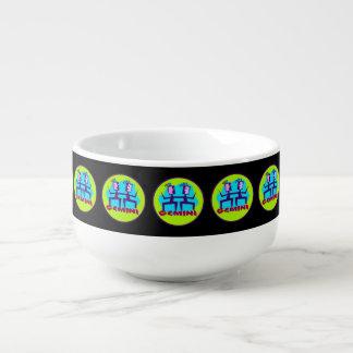 Gemini Cartoon Zodiac Astrology design Soup Mug