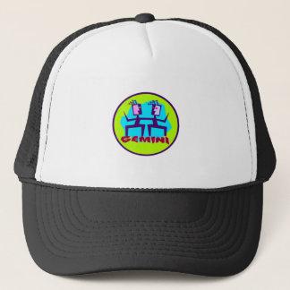Gemini Cartoon Zodiac Astrology design Trucker Hat