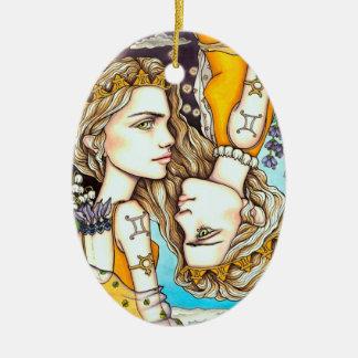 Gemini Ceramic Ornament