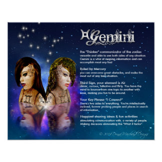 Gemini Characteristics Poster