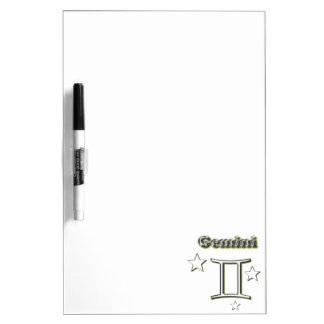 Gemini chrome symbol dry erase board