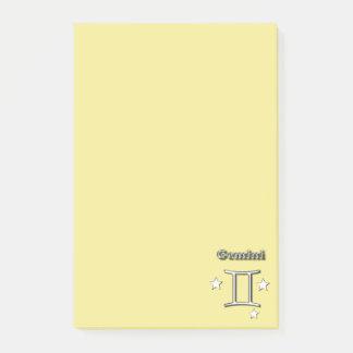 Gemini chrome symbol post-it notes