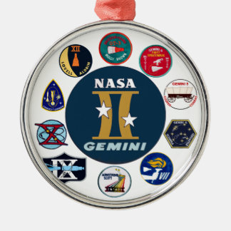 Gemini Commemorative Logo Metal Ornament