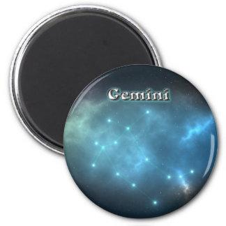 Gemini constellation 2 inch round magnet