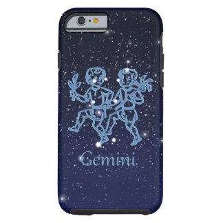 Gemini Constellation and Zodiac Sign with Stars Tough iPhone 6 Case