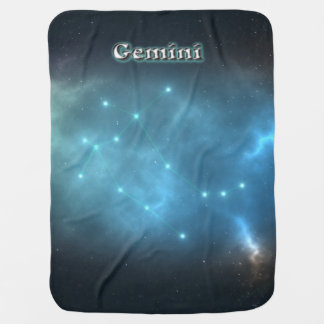 Gemini constellation baby blanket
