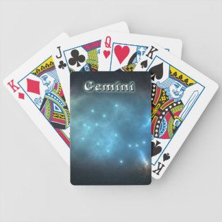 Gemini constellation bicycle playing cards