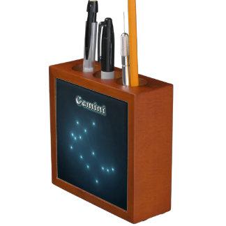 Gemini constellation desk organizer
