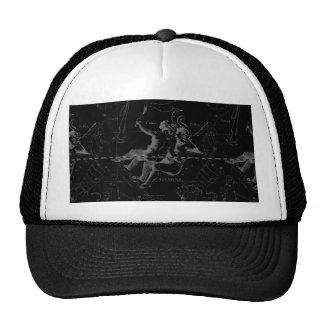 Gemini Constellation Hevelius 1690 on Black Trucker Hat