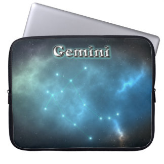 Gemini constellation laptop sleeves