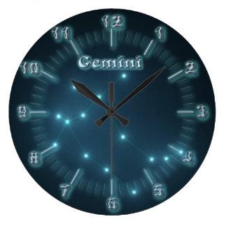 Gemini constellation large clock