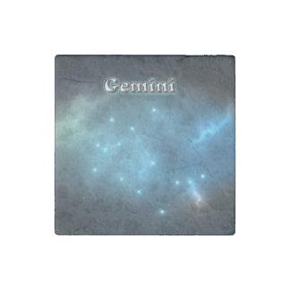 Gemini constellation stone magnets