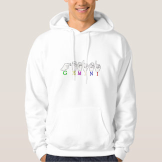 GEMINI FINGERSPELLED ASL NAME ZODIAC SIGN HOODIE