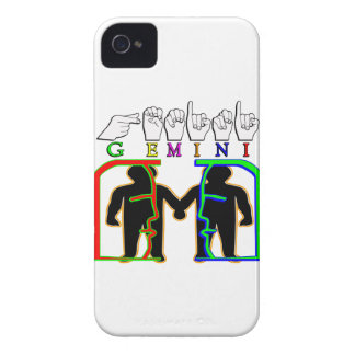 GEMINI FINGERSPELLED ASL NAME ZODIAC SIGN iPhone 4 COVER