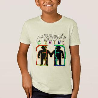 GEMINI FINGERSPELLED ASL NAME ZODIAC SIGN T-Shirt