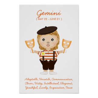 Gemini - Girl Horoscope Poster