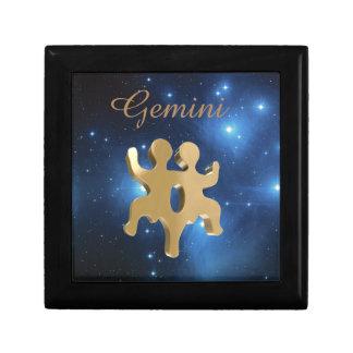 Gemini golden sign gift box