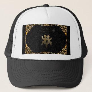 Gemini golden sign trucker hat