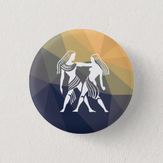 Gemini horoscope twins round button