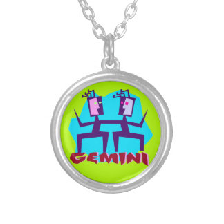 Gemini Horoscope Zodiac Sign Necklace