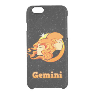 Gemini illustration clear iPhone 6/6S case