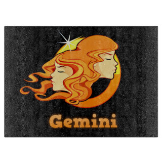 Gemini illustration cutting board