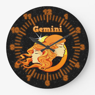 Gemini illustration large clock