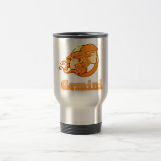 Gemini illustration travel mug