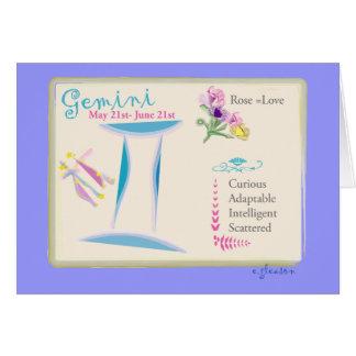 Gemini June Greeting Card
