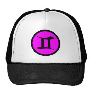 Gemini Magenta Black Circle Crest Trucker Hat